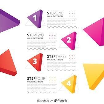 Infográfico passos conceito em estilo simples