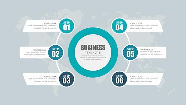 Infográfico premium premium para estratégia de negócios