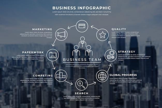 Infográfico profissional com imagem