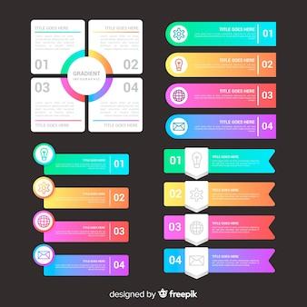 Infográfico profissional gradiente