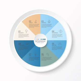 Infográfico quadrado com ícones de linha fina