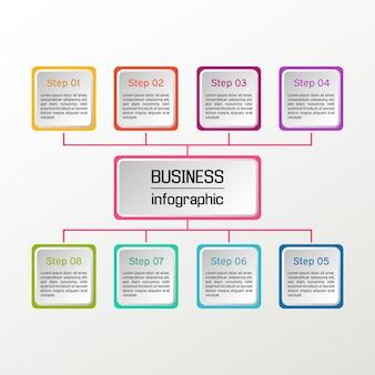 Infográfico quadrado. diagramas de negócios.