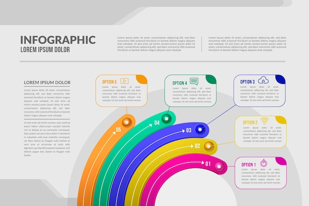 Infográfico radial realista