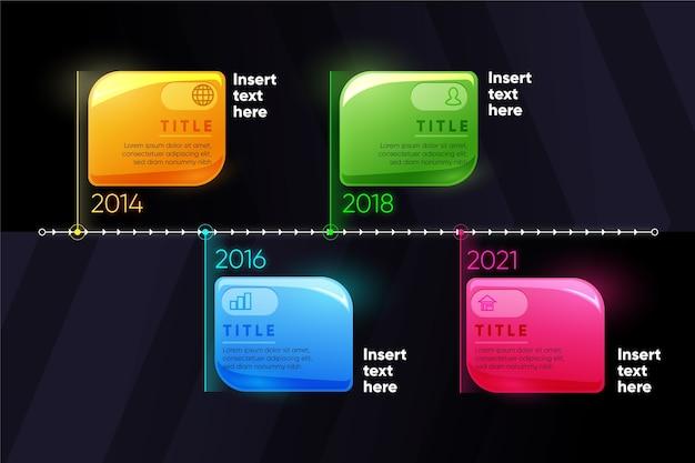 Infográfico realista realista timeline