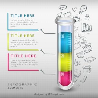 Infográfico tubo de ensaio