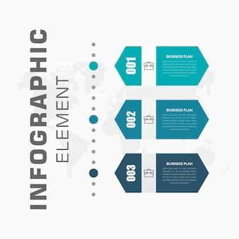 Infográfico vertical com ícone para estratégia de negócios