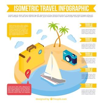 Infográfico viagens isométrica