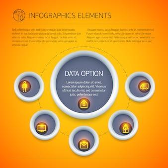 Infográficos abstratos de negócios