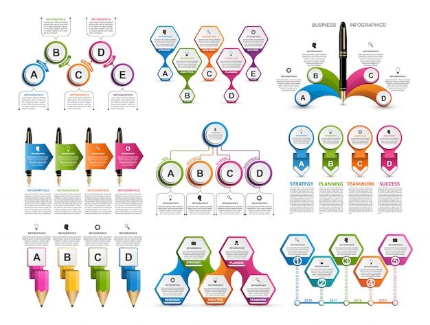 Infográficos coleção.