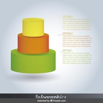 Infográficos coloridos piramidais