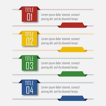 Infográficos com 4 passos