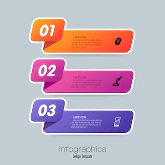 Infográficos com etapas e opções