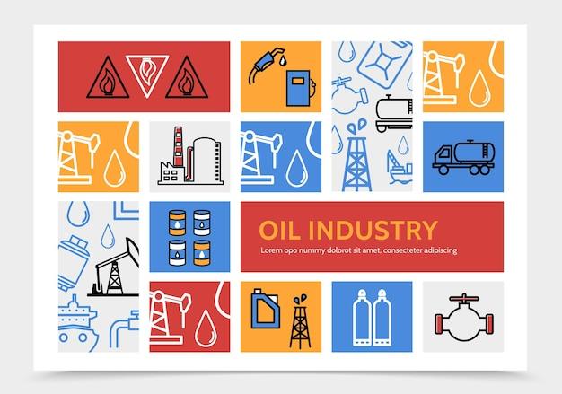 Infográficos da indústria de petróleo