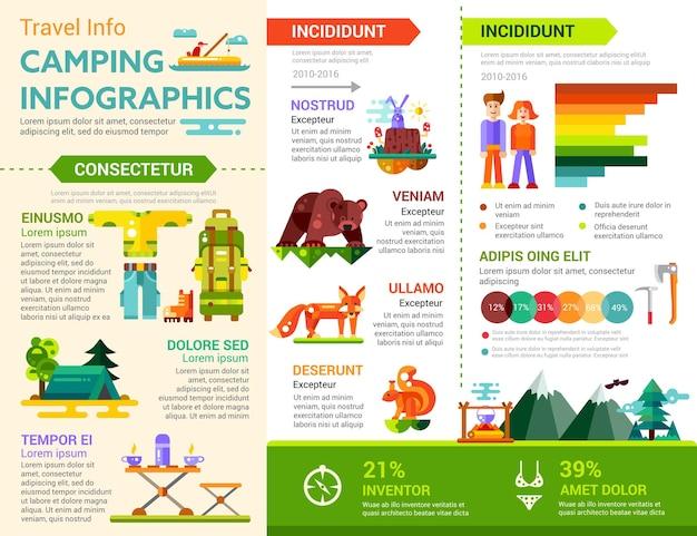 Infográficos de acampamento