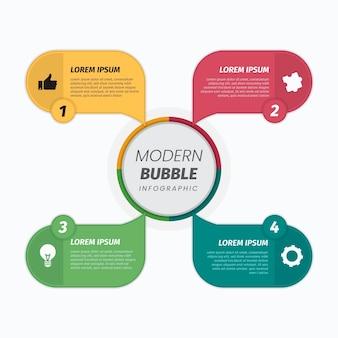 Infográficos de balões de fala planos