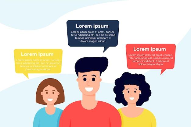 Infográficos de balões de fala