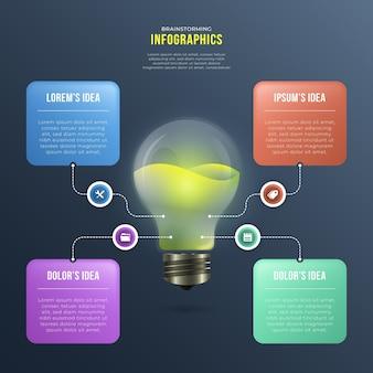 Infográficos de brainstorming de gradiente