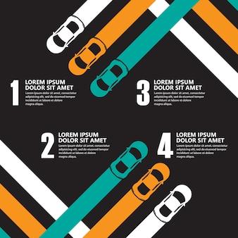 Infográficos de carro de corrida