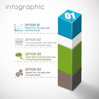 Infográficos de composição geométrica