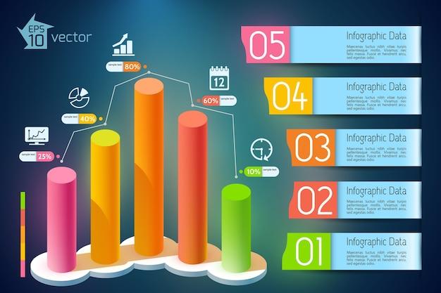 Infográficos de crescimento de negócios