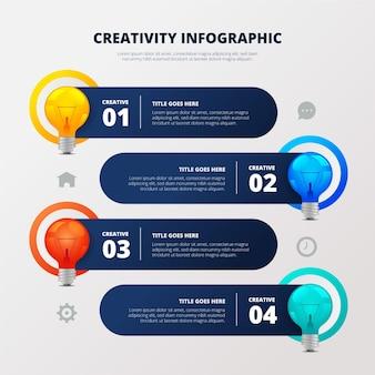 Infográficos de criatividade de gradiente