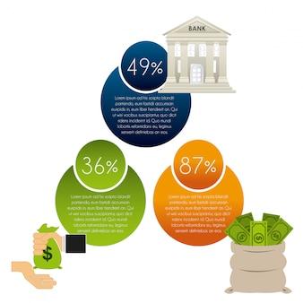 Infográficos de dinheiro