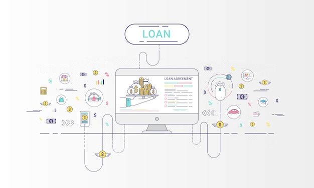 Infográficos de empréstimo