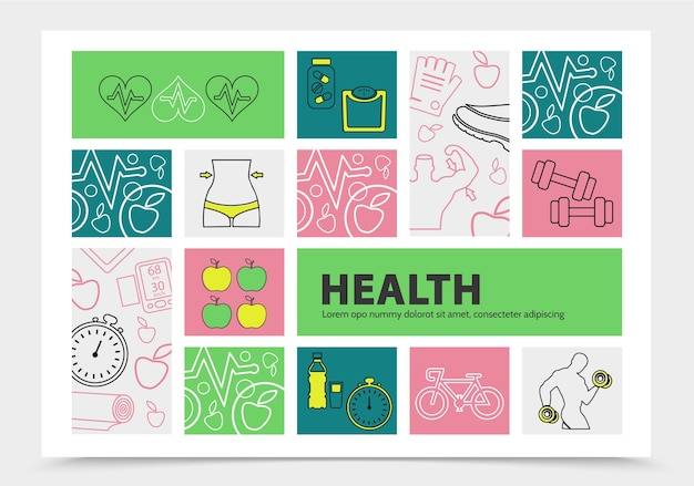 Infográficos de estilo de vida saudável