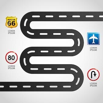 Infográficos de estrada