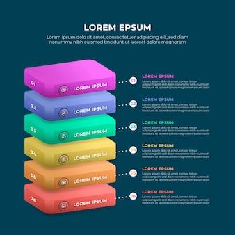 Infográficos de gradiente de negócios