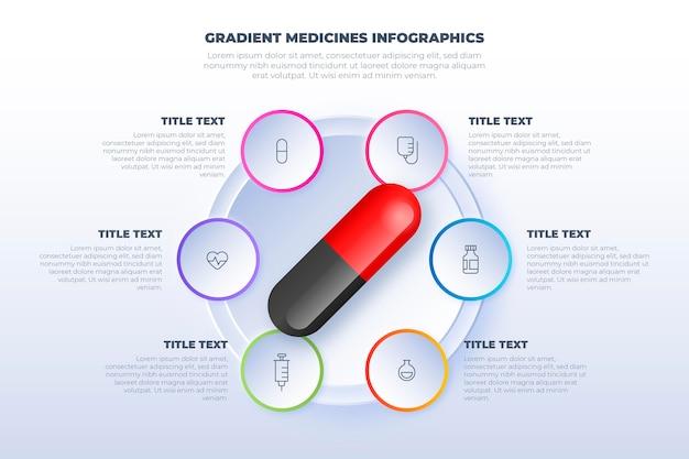 Infográficos de medicamentos de gradiente