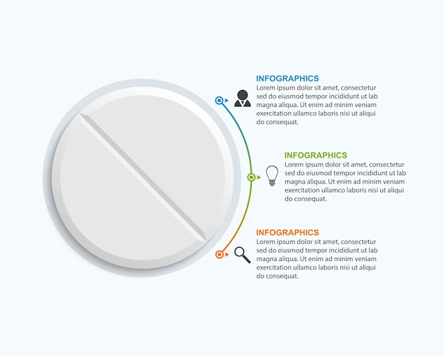 Infográficos de medicamentos para publicidade