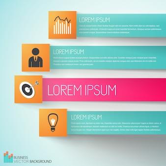 Infográficos de negócios de cumprimento de metas