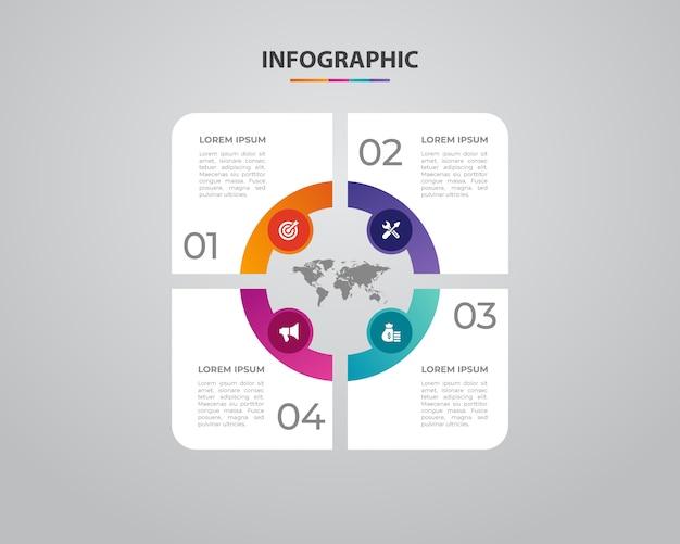 Infográficos de negócios. design minimalista e plano. estatísticas de negócios