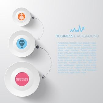 Infográficos de negócios leves