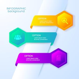 Infográficos de opções de negócios