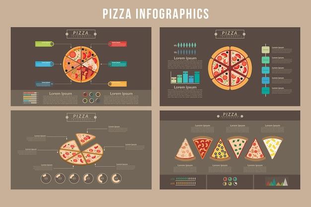 Infográficos de pizza