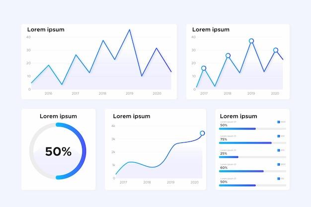 Infográficos de visualização de dados secuencial