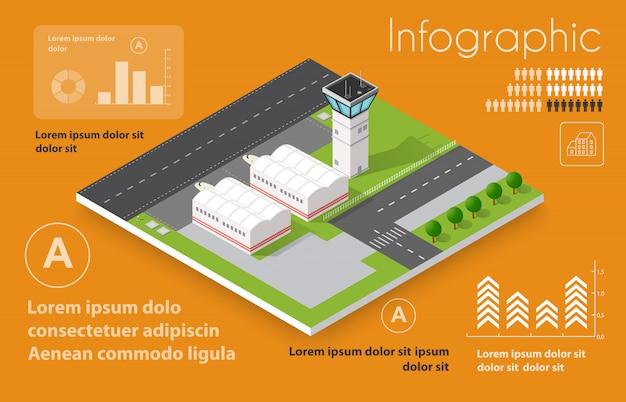 Infográficos de voos de transporte
