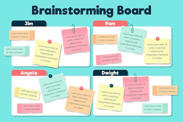 Infográficos do quadro de brainstorming