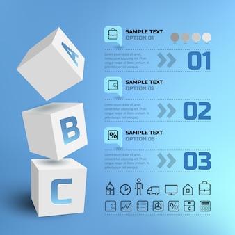 Infográficos geométricos de negócios