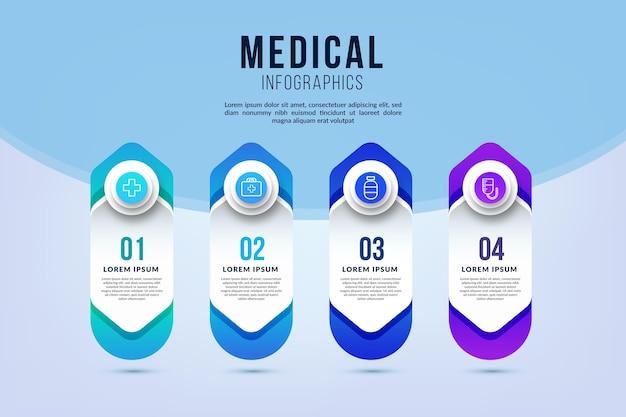 Infográficos médicos de gradiente