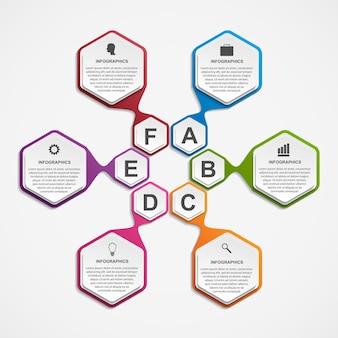Infográficos para apresentações de negócios ou banner de informações