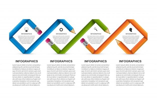 Infográficos para apresentações de negócios.