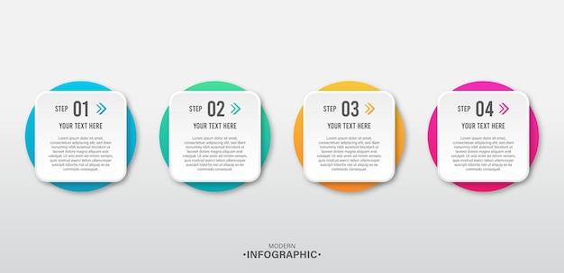 Infográficos para o conceito de negócio