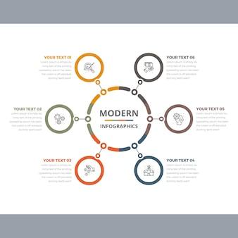 Infográficos simples e modernos do círculo