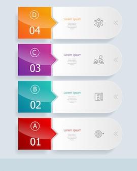Infográficos verticais 4 etapas