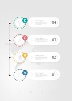 Infográficos verticais 4 passos