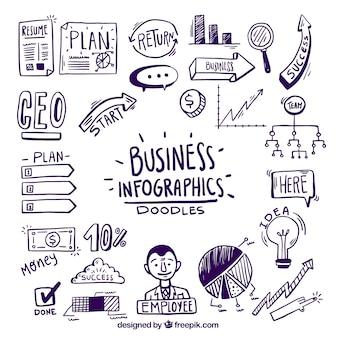 Infographics com doodles