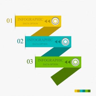 Infographics com três opções modernas